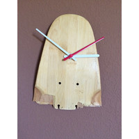 Longboard Art - Skateboard Wall Clock Natural - Small