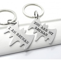 Batman Couple Best Friend Keychain Set