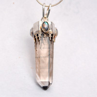 Smokey Quartz Crystal Necklace