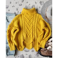 Paige Sweet Sweater in Mustard