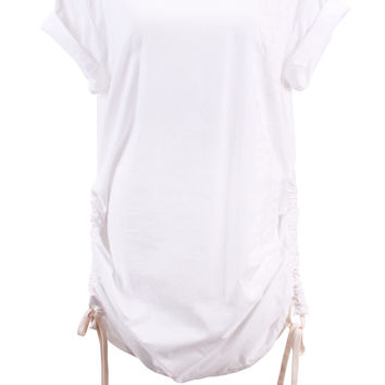 Three Shades Kaftan Shirt in White