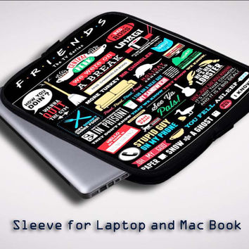Friends TV Show Sleeve for Laptop, Macbook Pro, Macbook Air (Twin Sides)