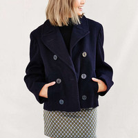 Urban Renewal Recycled Cropped Pea Coat - Urban Outfitters