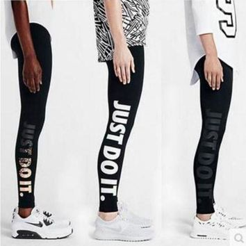 ESBONS Nike Fashion Print Exercise Fitness Gym Yoga Running Leggings Sweatpants