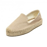 Soludos Canvas Platform Smoking Slipper in Safari - Soludos Espadrilles
