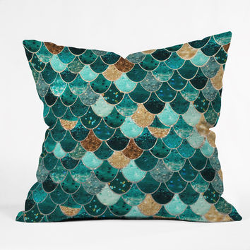 Monika Strigel Really Mermaid Throw Pillow