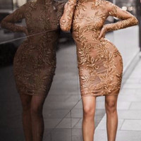 Abrielle Lace Bandage Dress
