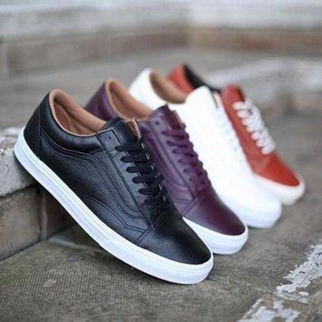CREYONS Vans Old Skool Leather Sneakers Sport Shoes