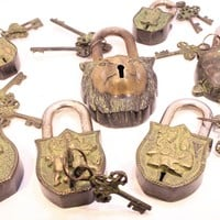 Large Indian Brass Locks