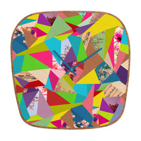 Bianca Green Colorful Thoughts Modern Clock