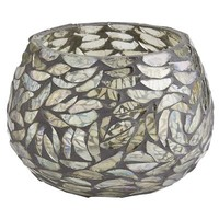 Gray Mosaic Tealight Holder