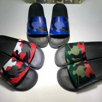 Valentino  Camouflage series of slippers