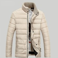 Men`s Fashion Winter Jacket Mens Jackets And Coats Outwear Men Casual Jacket Cotton  Men cotton-padded jBrand Clothing Plus Size