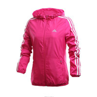 Fashion Adidas Solid Hooded Zipper Cardigan Jacket Windbreaker
