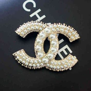 pearl shop wanelo best chanel channel on fashion logo products cc brooch women