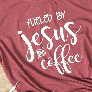 Fueled By Jesus and Coffee Vintage Tee