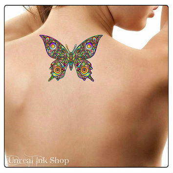 Temporary Tattoo Butterfly Waterproof Fake Tattoo Thin Durable