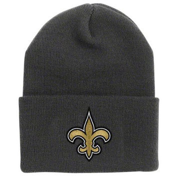 NFL End Zone Cuffed Knit Hat - K010Z, New Orleans Saints, One Size Fits All