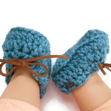 Crochet Baby Boy Moccasins - Crochet Baby Loafers - Going Home Outfit for Boys - Baby Shower Gift - Crochet Baby Shoes - Crochet Baby Bootie