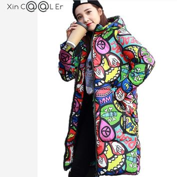 Beautiful !2017 Free Shipping New Autumn Winter  Women Padded Jacket Long  Coats Woman Coats And Jackets Plus Size Fashion Slim