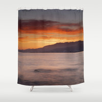 Mediterranean sunset.  Summer days. Shower Curtain by Guido Montañés