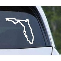 Florida State Outline FL - USA America Die Cut Vinyl Decal Sticker