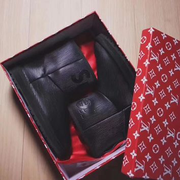 UGG x Louis Vuitton x Supreme Leather Snow Ankle Boots - High-end limited edition-3