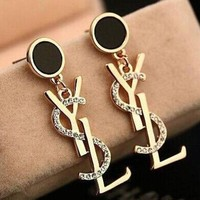 YSL Earrings Womens Fashion Diamonds Stud Jewelry