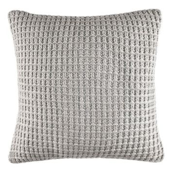 Nautica Grey Sweater Knit Pillow | Nordstrom