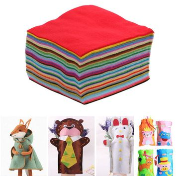 40PCS Non-woven Felt Fabric polyester sleeve soft cloth Kids DIY Christmas Craft 1mm Thick Mixed Color Home Decoration -Y102