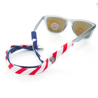 New American Flag Sunglass Straps - Cotton Snaps