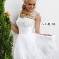 2014 Sherri Hill Short Two Straps Homecoming Dress 4302
