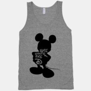 She Wants The D - Athletic Grey Unisex Tank
