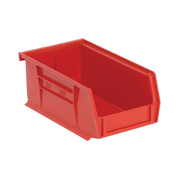 Quantum Storage Systems Ultra Stack And Hang Bin 7-3/8Lx 4-1/8Wx 3H - Red Pack Of 24