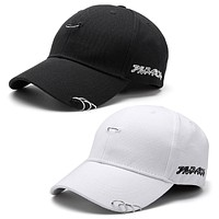 baseball cap unisex solid Ring Safety Pin curved hats baseball cap men women snapback caps sport casquette gorras DM#6