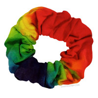 Crunchie Scrunchie - Rainbow Tie-Dye Hair Tie