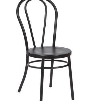 Thonet Style Black Bentwood Steel Side Chair (set of 2)