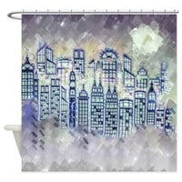 WINTER IN THE CITY SHOWER CURTAIN