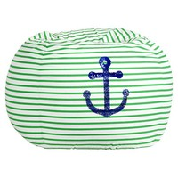 Anchor Sea Breeze Stripe Beanbag