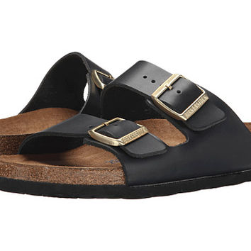 Birkenstock Arizona Soft Footbed Hunter Black Leather - Zappos.com Free Shipping BOTH Ways