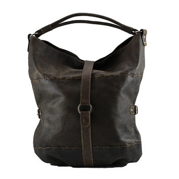 Vintage Leather Slouch Hobo Bag - Black Vintage