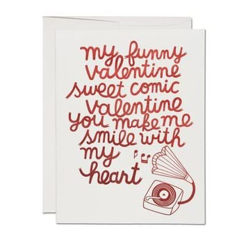 RED CAP CARDS MY FUNNY VALENTINE CARD
