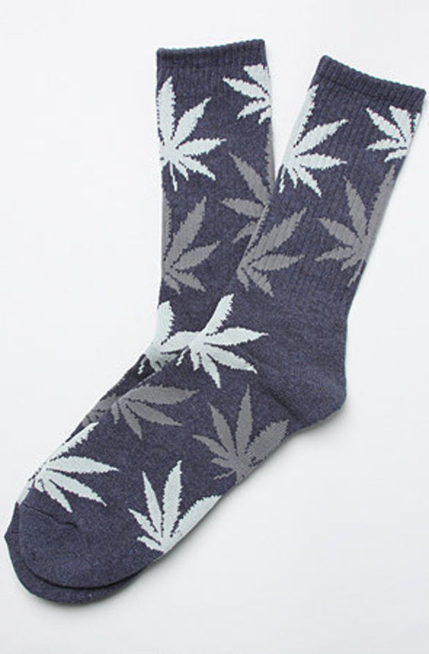 The Plant Life Crew Socks in Navy Heather