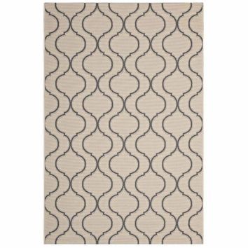 Linza Wave Abstract Trellis 8x10 Indoor and Outdoor Area Rug - R-1136A-810