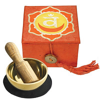 "Tibetan Mini Meditation Bowl and Box: 2"" Sacral Chakra"