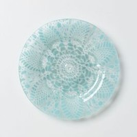 Frosted Doily Dessert Plate by Kicking Glass by Sheree Blum