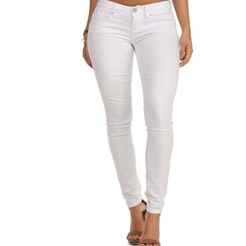 White Over And Over Skinny Jeans
