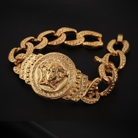 "Hot Sale ""Versace"" Fashion Women Men Skateboard Hip Hop Couple Bracelets"