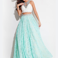 Two Piece Rachel Allan Prom Dress 7248