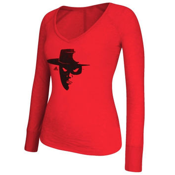 Texas Tech Red Raiders adidas Women's Burnout Element Logo Long Sleeve T-Shirt - Scarlet
